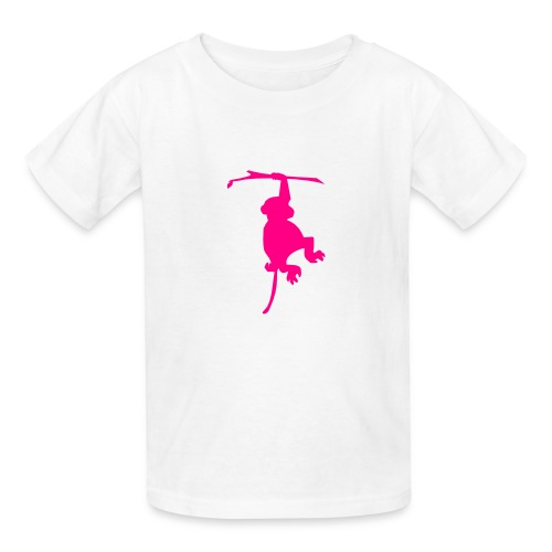 Kids' T-Shirt - Little girl monkey shirt