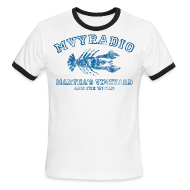T-Shirts ~ Men's Ringer T-Shirt ~ Vintage distressed mvyradio ringer