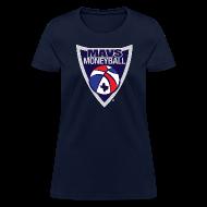 Women's T-Shirts ~ Women's T-Shirt ~ MAVS MONEYBALL CREST woman's w/ MMB Texas on back
