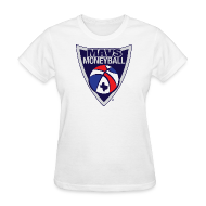 T-Shirts ~ Women's T-Shirt ~ MAVS MONEYBALL CREST woman's w/ MMB Texas on back