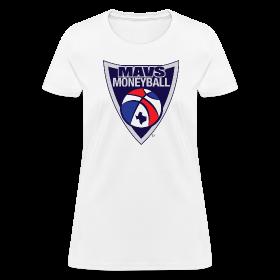 MAVS MONEYBALL CREST woman's w/ MMB Texas on back ~ 625