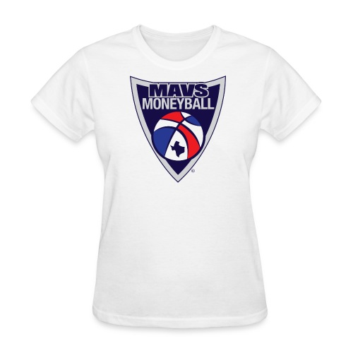MAVS MONEYBALL CREST woman's w/ MMB Texas on back - Women's T-Shirt