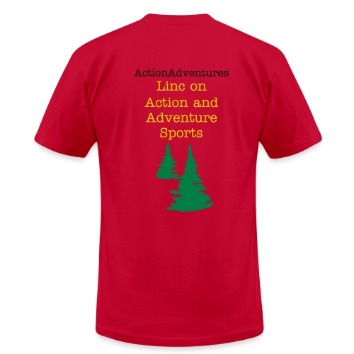 two green pine trees - Men's T-Shirt by American Apparel