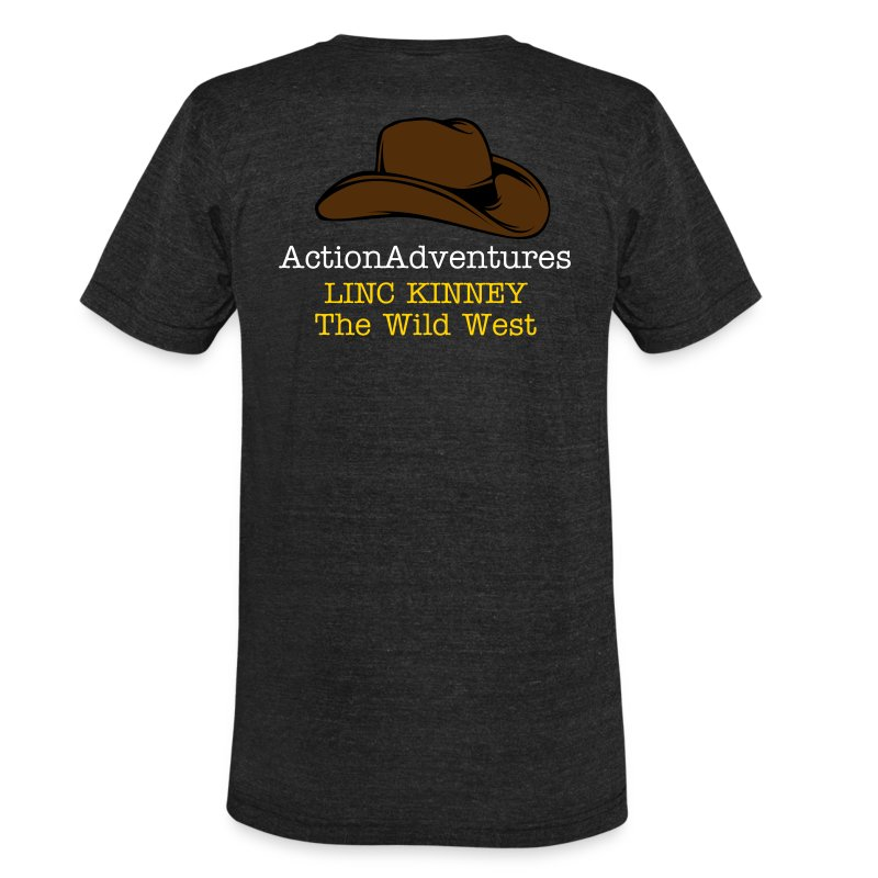 cowboy - hat - Unisex Tri-Blend T-Shirt by American Apparel