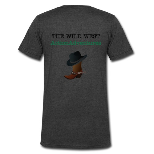 Cowboy Boot and Hat - Men's V-Neck T-Shirt by Canvas