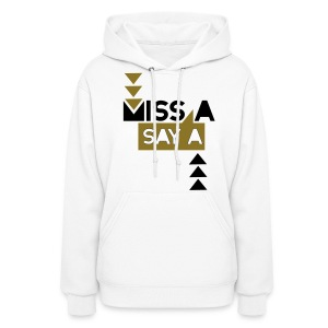 [MISSA] Say A (Black / Metallic Gold) - Women's Hoodie