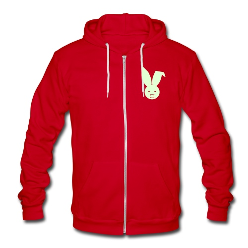 Glow In The Dark Front - Jared - Unisex Fleece Zip Hoodie
