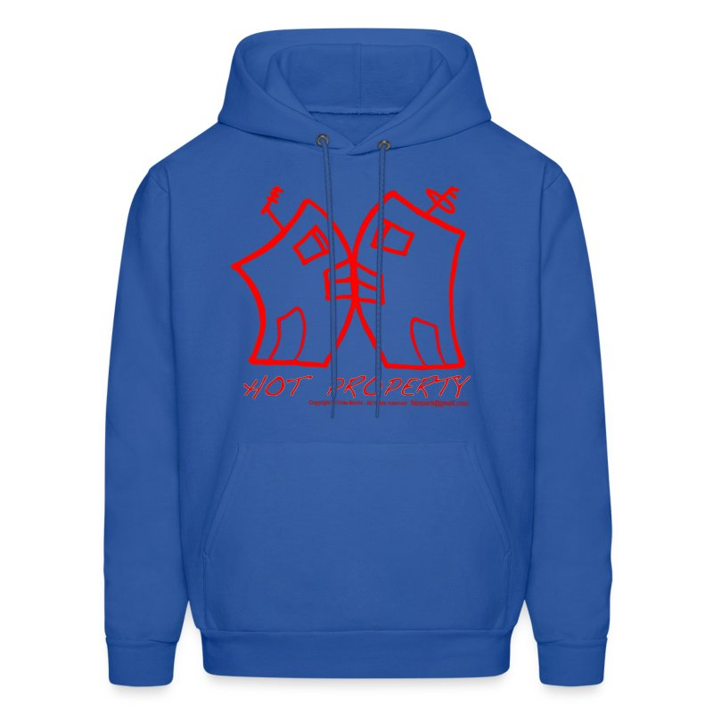Hot Property , B-L-Ding  2 Buildings Kissing Red, By FabSpark - Men's Hoodie