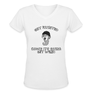 T-Shirts ~ Women's V-Neck T-Shirt ~ Colon Dwarf Shirt
