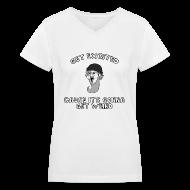 Women's T-Shirts ~ Women's V-Neck T-Shirt ~ Colon Dwarf Shirt