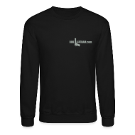 Long Sleeve Shirts ~ Crewneck Sweatshirt ~ DryFire - Men's Sweatshirt, GRAY Logo