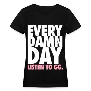 [SNSD] Listen to GG. - Women's V-Neck T-Shirt