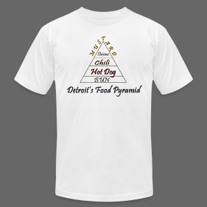 Detroit's Food Pyramid - Men's T-Shirt by American Apparel