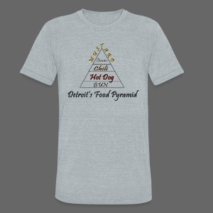 Detroit's Food Pyramid - Unisex Tri-Blend T-Shirt by American Apparel