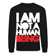 Long Sleeve Shirts ~ Men's Crewneck Sweatshirt ~ I am not a human being