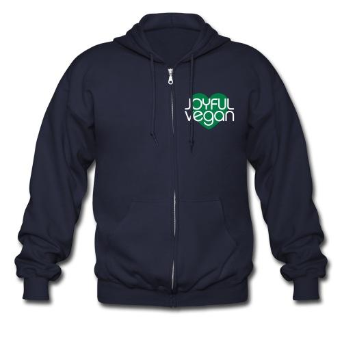 Joyful Vegan Zipper Hoodie - Men's Zip Hoodie