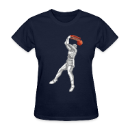 Women's T-Shirts ~ Women's T-Shirt ~ Exciting Basket - Double Dribble