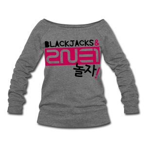 [2NE1] Blackjacks & 2NE1 (Front & Back) - Women's Wideneck Sweatshirt