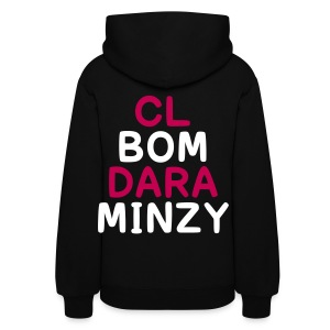 [2NE1] Blackjacks & 2NE1 (Front & Back) - Women's Hoodie
