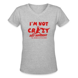 'I'm Not Crazy' Lacrosse Goalie Women's V-Neck T-Shirt - Women's V-Neck T-Shirt