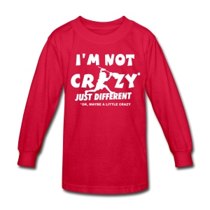 'I'm Not Crazy' Lacrosse Goalie Children's Long Sleeve T-Shirt - Kids' Long Sleeve T-Shirt