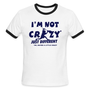 'I'm Not Crazy' Lacrosse Goalie Men's Ringer T-Shirt - Men's Ringer T-Shirt