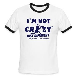 'I'm Not Crazy' Lacrosse Goalie Men's Ringer T-Shirt - Men's Ringer T-Shirt