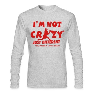 'I'm Not Crazy' Lacrosse Goalie Men's Long Sleeve T-Shirt - Men's Long Sleeve T-Shirt by Next Level
