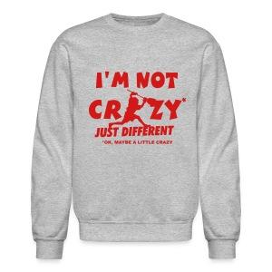 'I'm Not Crazy' Lacrosse Goalie Men's Sweatshirt - Crewneck Sweatshirt