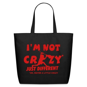 'I'm Not Crazy' Lacrosse Goalie Cotton Tote - Eco-Friendly Cotton Tote