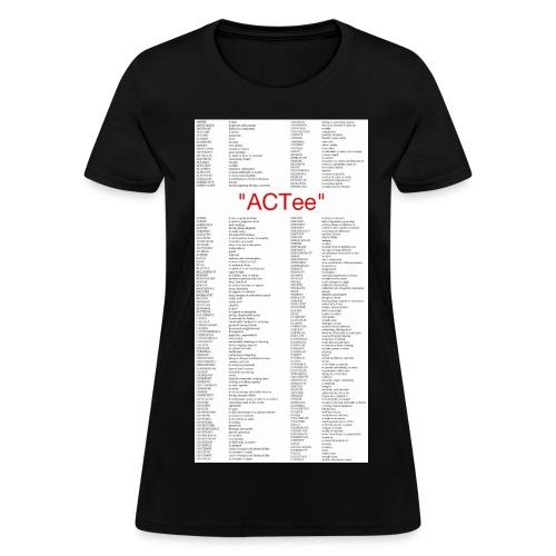 ACTee - Black - Women's T-Shirt
