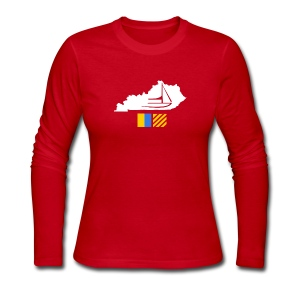 Kentucky Flags - Women's Long Sleeve Jersey T-Shirt