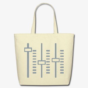 Graphic Equalizer Tote Bag - Eco-Friendly Cotton Tote