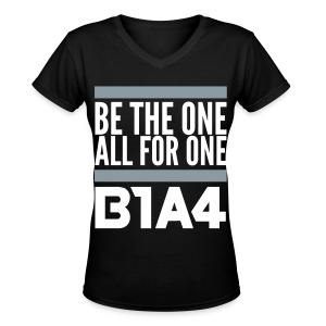 [B1A4] Be the One, All for One (Front Only) - Women's V-Neck T-Shirt