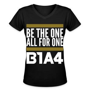 [B1A4] Be the One, All for One (Front & Back) - Women's V-Neck T-Shirt