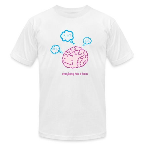 Happy Brain Ingredients Men's T-Shirt - White - Men's  Jersey T-Shirt