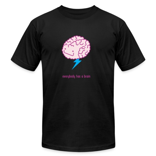 Brain Storm Men's T-Shirt - Black - Men's Fine Jersey T-Shirt