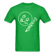 T-Shirts ~ Men's T-Shirt ~ Monged Smiley Face whos feeling the effect with Glow in the Dark Print