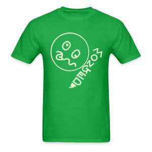 Monged Smiley Face whos feeling the effect with Glow in the Dark Print - Men's T-Shirt