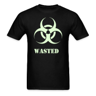 T-Shirts ~ Men's T-Shirt ~ Wasted t-shirt with Glow in the Dark Print