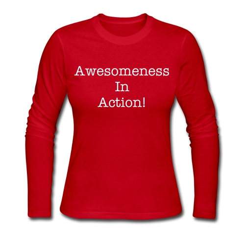 Awesomeness in action! - Women's Long Sleeve Jersey T-Shirt