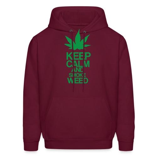 Men's Hooded Sweatshirt - Keep Calm and Smoke Weed - Men's Hoodie