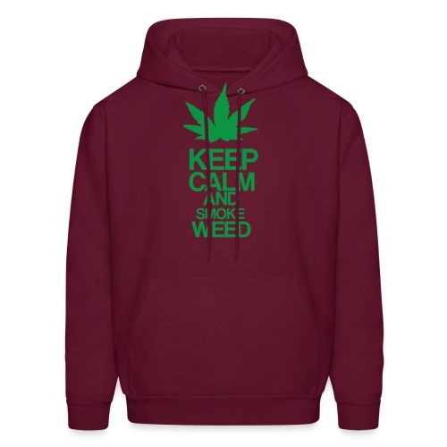 Men's Hooded Sweatshirt - Keep Calm and Smoke Weed - Men's Hoodie