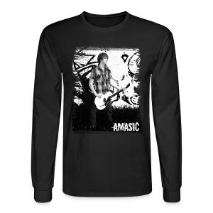 Amasic Black & White - Men's Long Sleeve T-Shirt