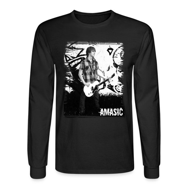 Amasic Black & White - Men's Long Sleeve T-Shirt
