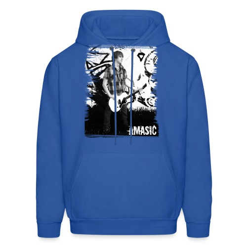Amasic Black & White - Men's Hoodie