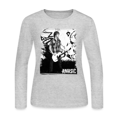 Amasic Black & White - Women's Long Sleeve Jersey T-Shirt