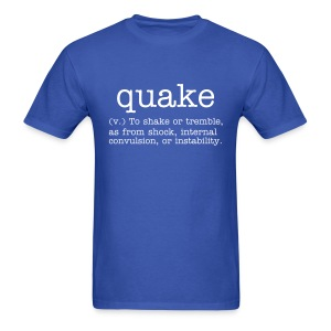 quake definition - Men's T-Shirt