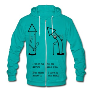 Knee to the Head Zip Hoodies/Jackets - Unisex Fleece Zip Hoodie by American Apparel