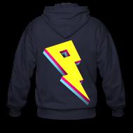 Zip Hoodies & Jackets ~ Men's Zip Hoodie ~ Pandoric Fleece Hoodie (Back Logo)